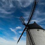 Spaanse windmolen, zoals die waar Don Quichote tegen vocht