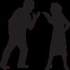 Man en vrouw in silhouette